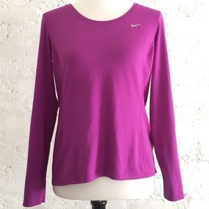 Nike Dri Fit purple long sleeve shirt size M